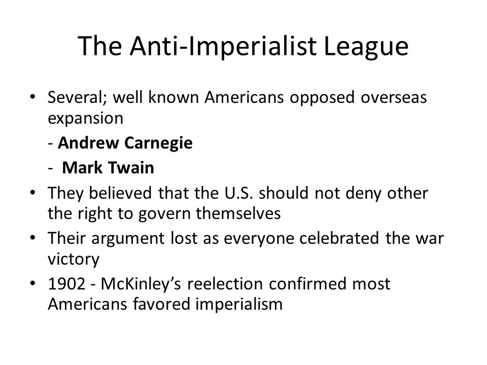 The Anti-Imperialist League
