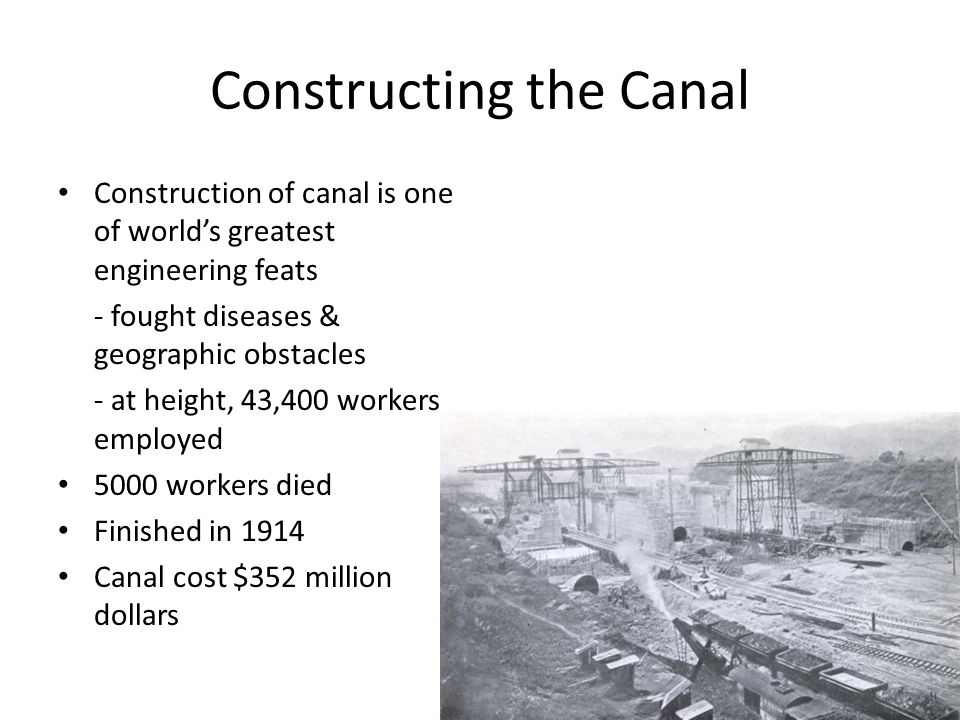 Constructing the Canal