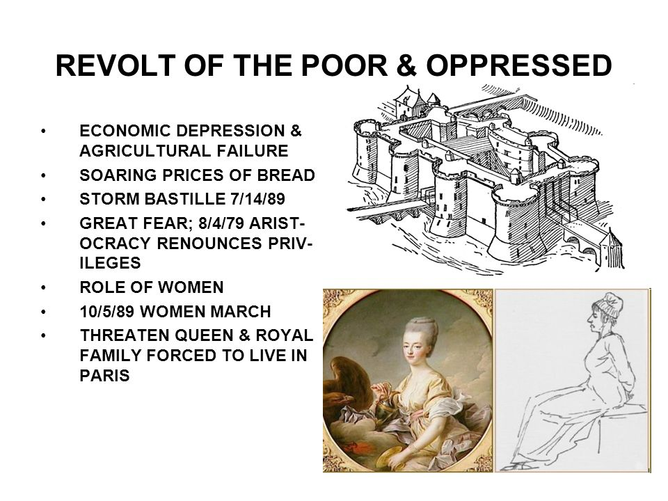 REVOLT OF THE POOR & OPPRESSED