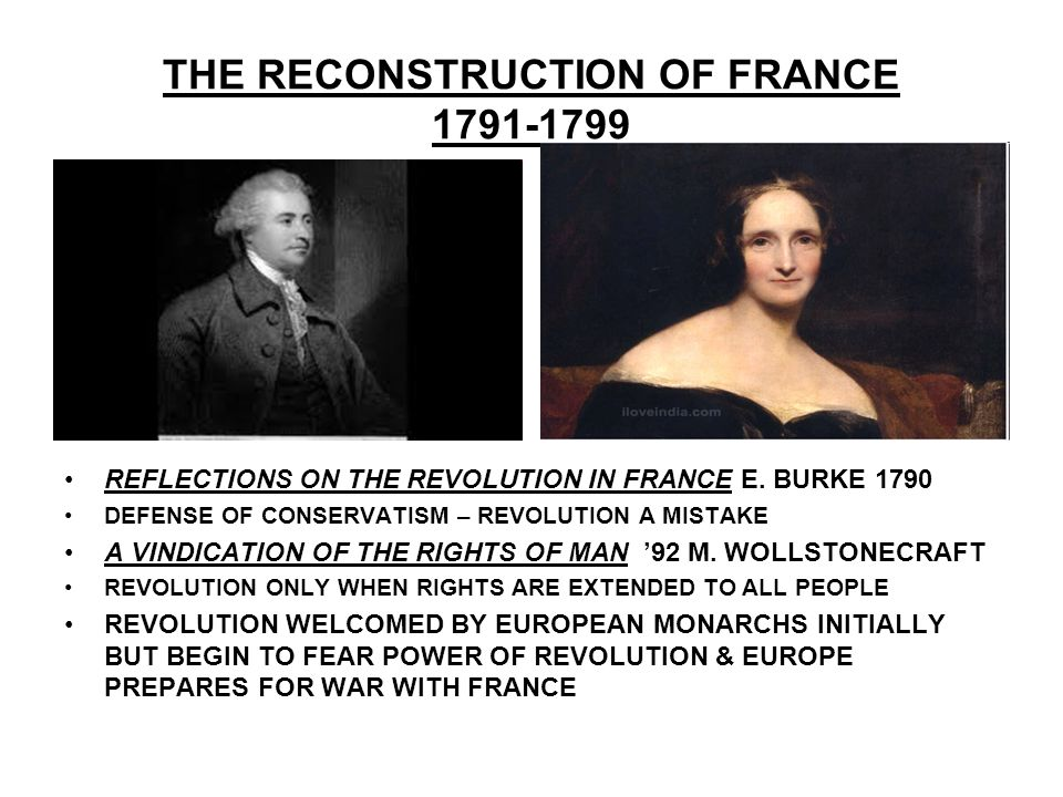 THE RECONSTRUCTION OF FRANCE 1791-1799