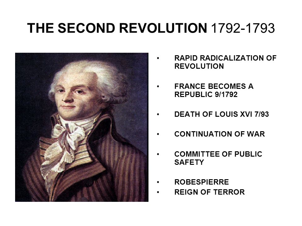 THE SECOND REVOLUTION 1792-1793