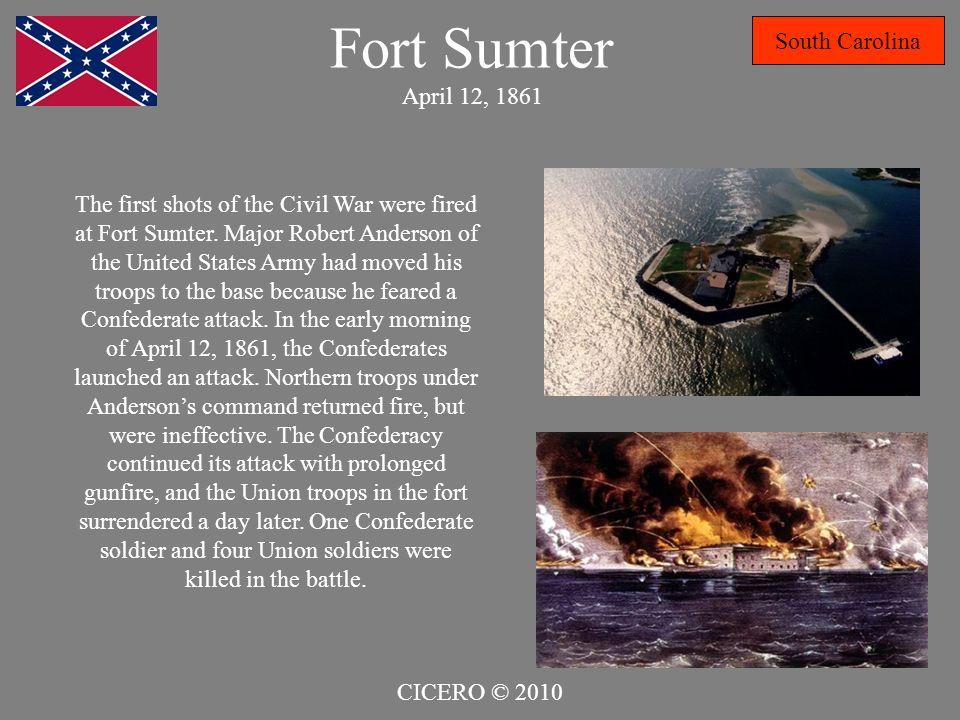 Fort Sumter April 12, 1861 South Carolina