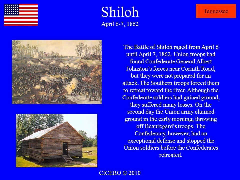 Shiloh April 6-7, 1862 Tennessee