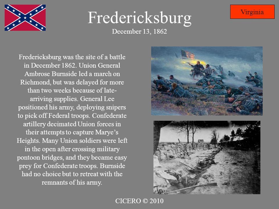 Fredericksburg December 13, 1862