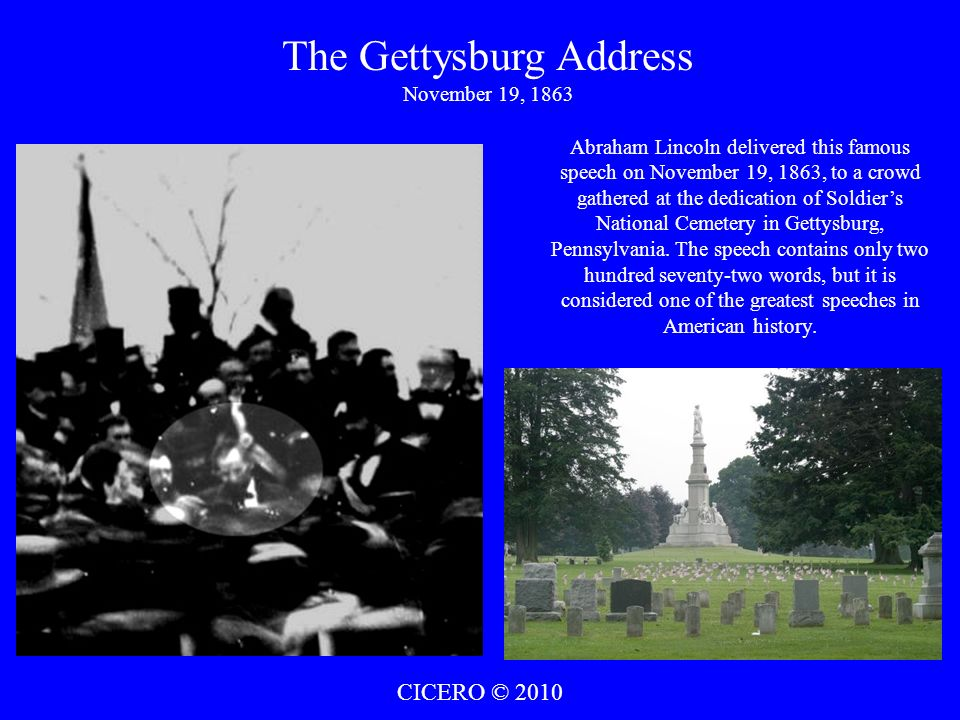 The Gettysburg Address November 19, 1863