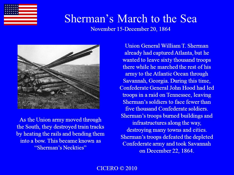 Sherman's March to the Sea November 15-December 20, 1864