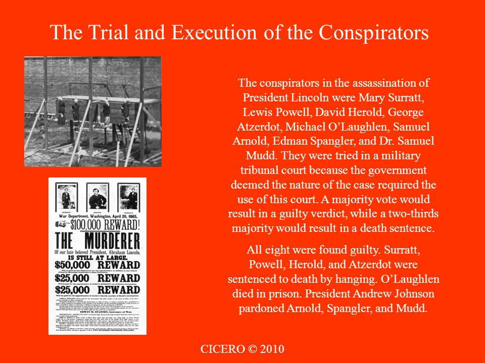 The Trial and Execution of the Conspirators