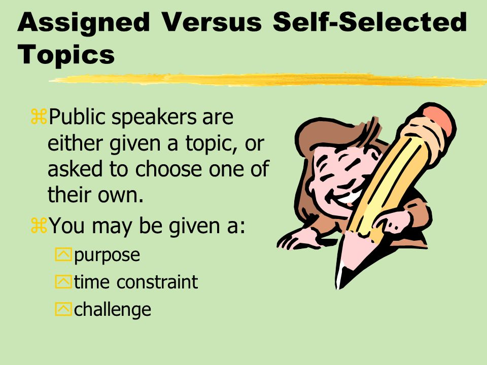 Assigned Versus Self-Selected Topics