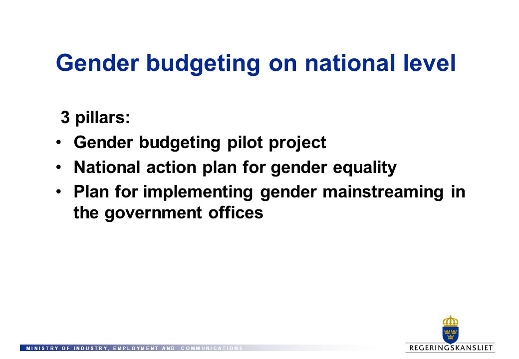 Gender budgeting on national level