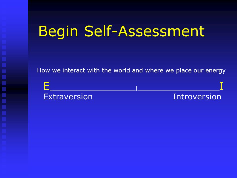 Begin Self-Assessment