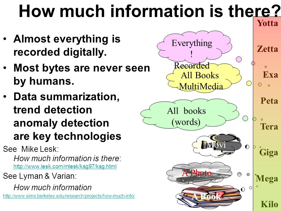 How much information is there