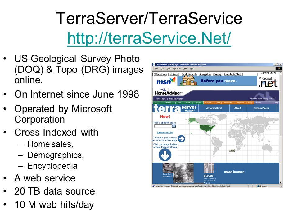 TerraServer/TerraService http://terraService.Net/