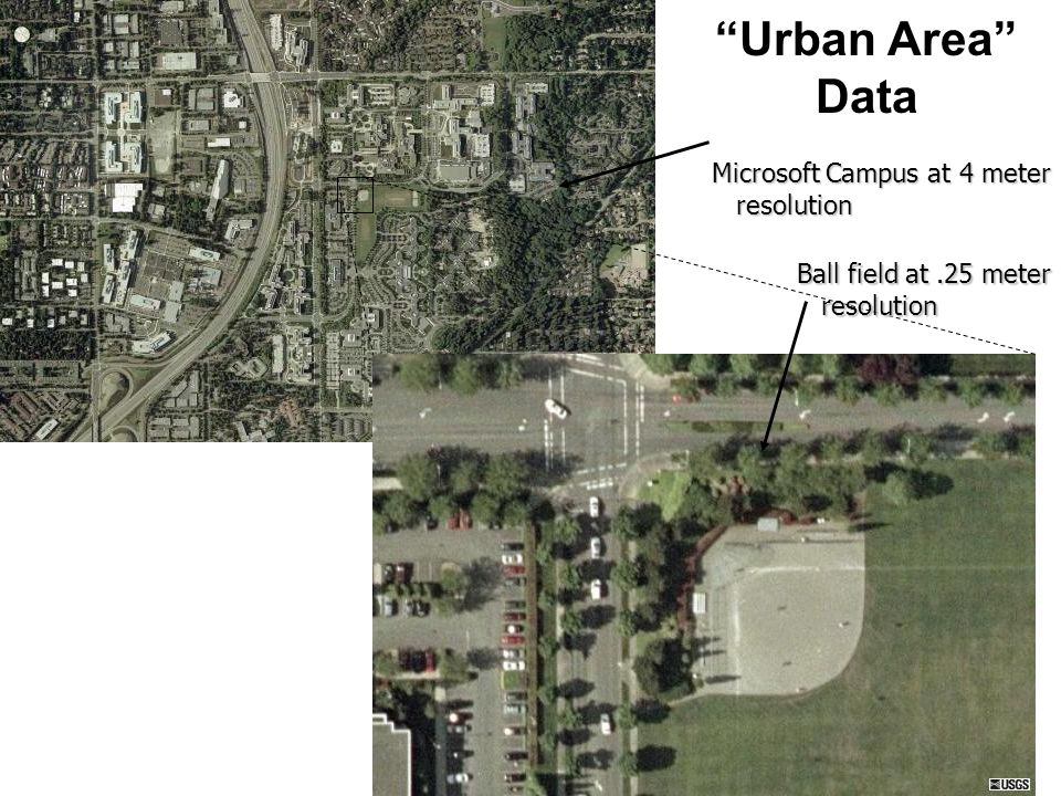 Urban Area Data Microsoft Campus at 4 meter resolution