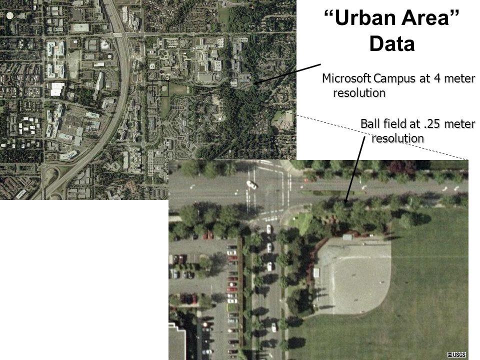 Urban Area Data Microsoft Campus at 4 meter resolution