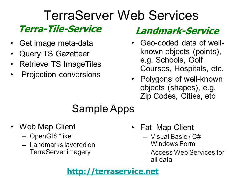 TerraServer Web Services