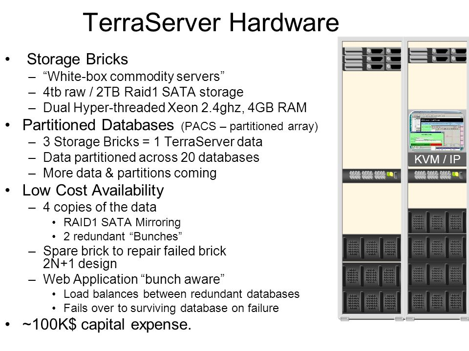 TerraServer Hardware Storage Bricks