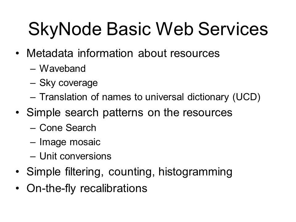 SkyNode Basic Web Services