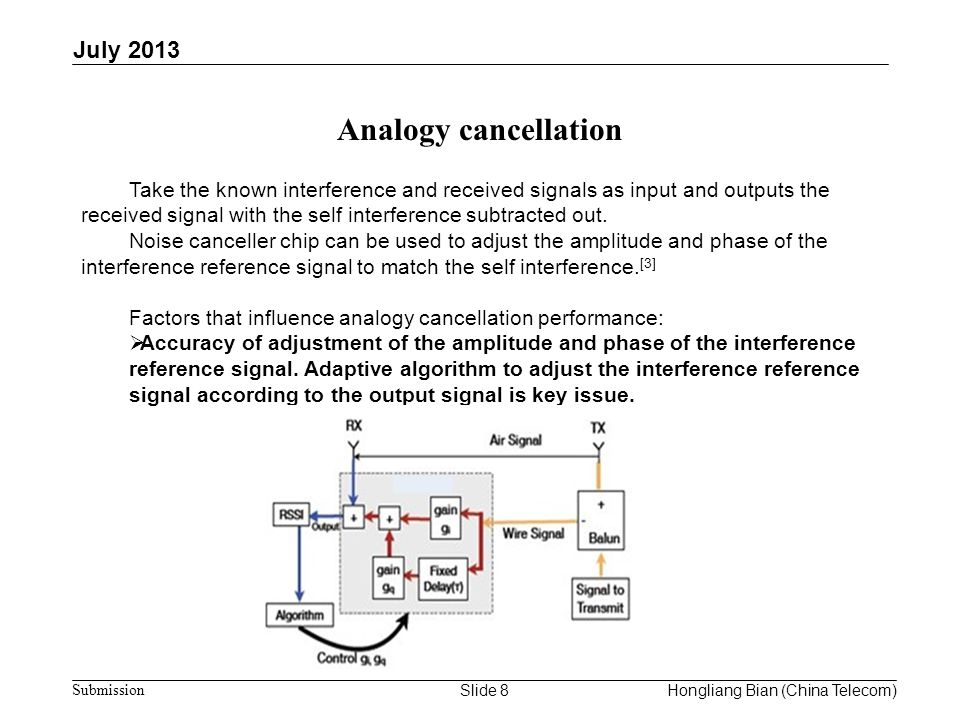 Analogy cancellation July 2013