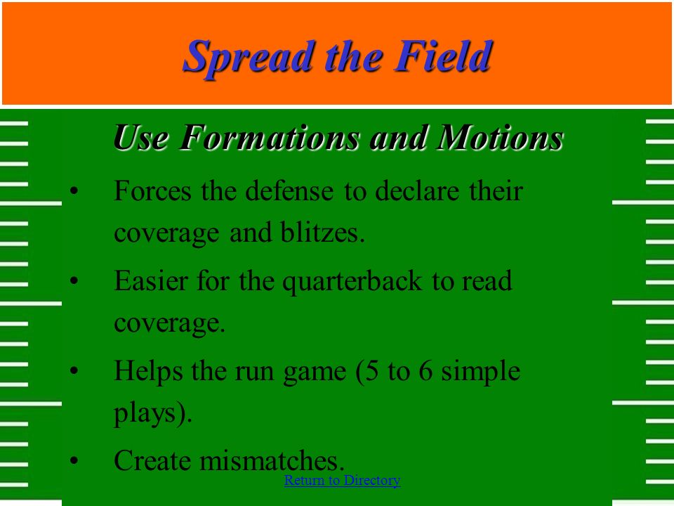 Use Formations and Motions