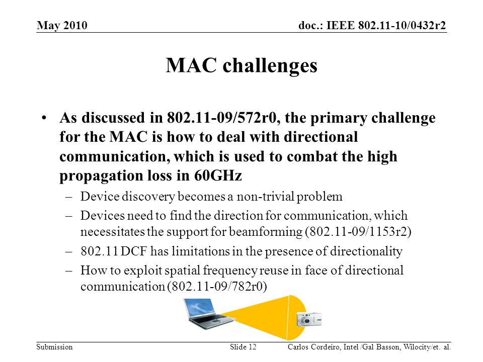 Month Year doc.: IEEE 802.11-07/xxxxr0. May 2010. MAC challenges.