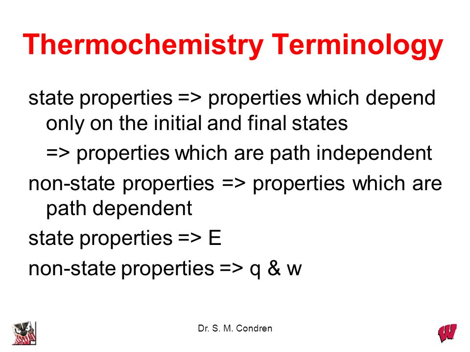 Thermochemistry Terminology