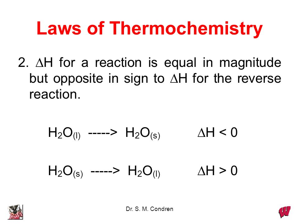 Laws of Thermochemistry