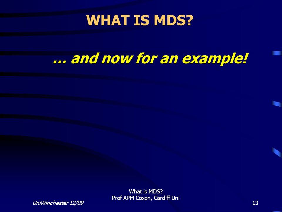 What is MDS Prof APM Coxon, Cardiff Uni