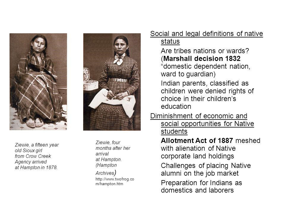 Social and legal definitions of native status