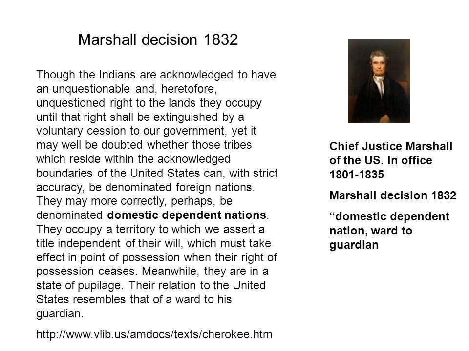 Marshall decision 1832