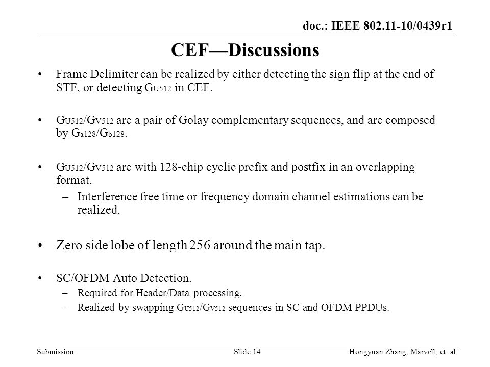 CEF—Discussions Zero side lobe of length 256 around the main tap.