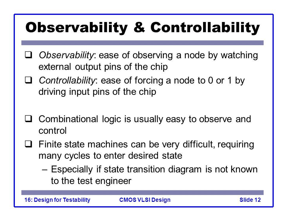 Observability & Controllability