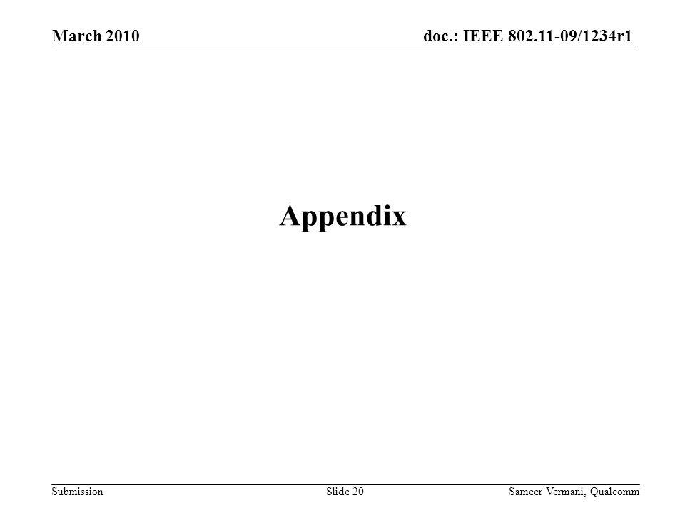 March 2010 Appendix Sameer Vermani, Qualcomm