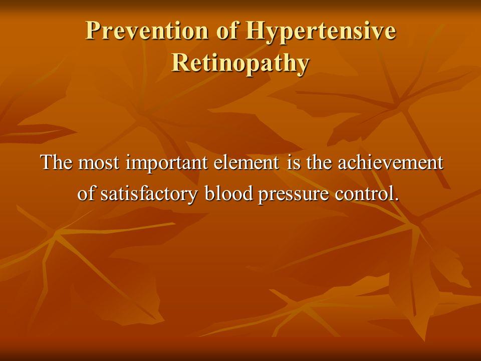 Prevention of Hypertensive Retinopathy