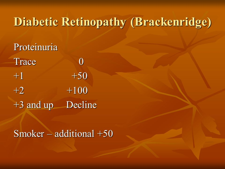 Diabetic Retinopathy (Brackenridge)