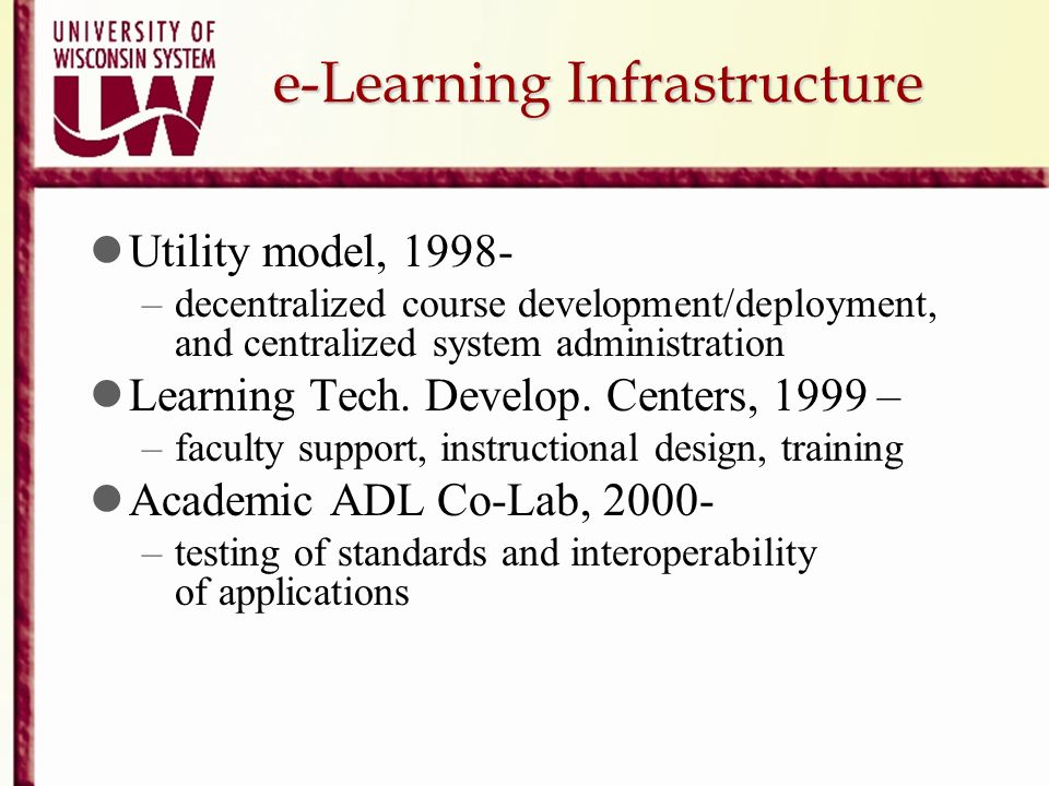 e-Learning Infrastructure