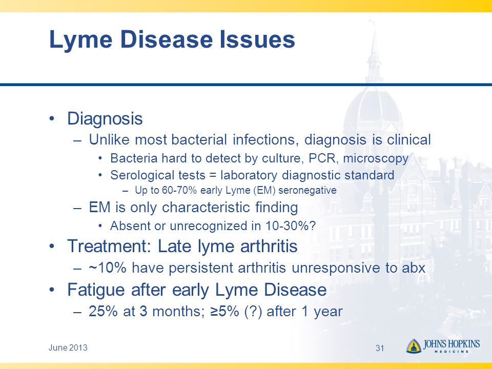 Lyme Disease Issues Diagnosis Treatment: Late lyme arthritis