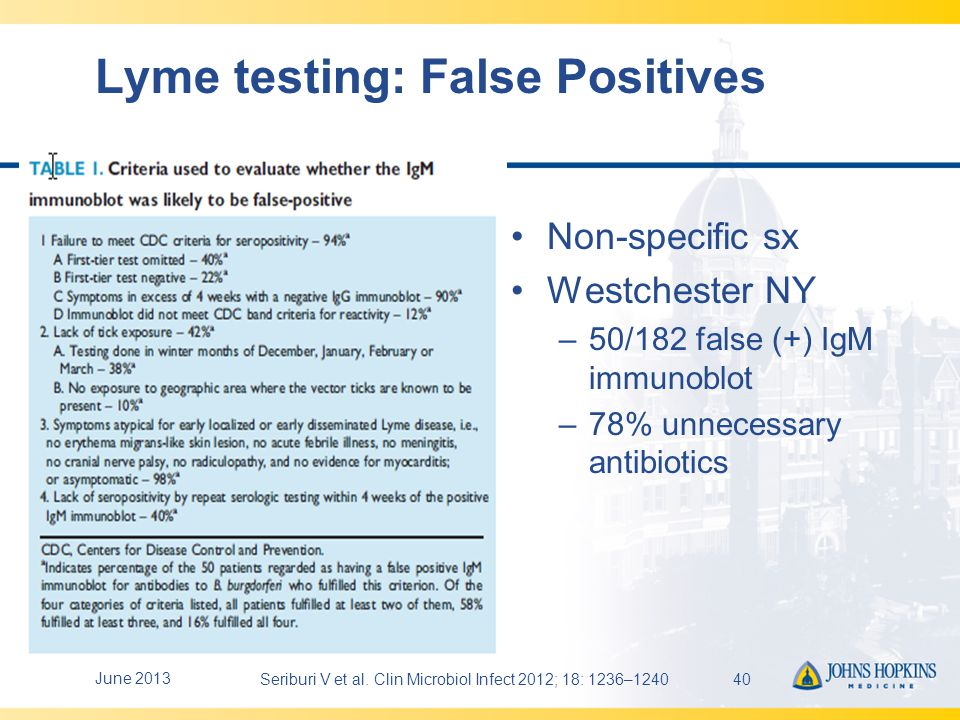 test lyme fiable