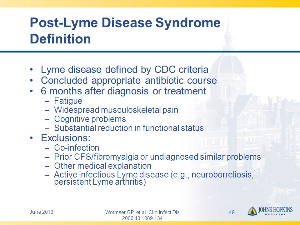 Post-Lyme Disease Syndrome Definition