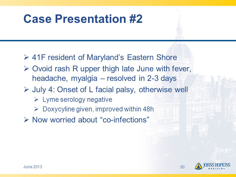 Case Presentation #2 41F resident of Maryland's Eastern Shore