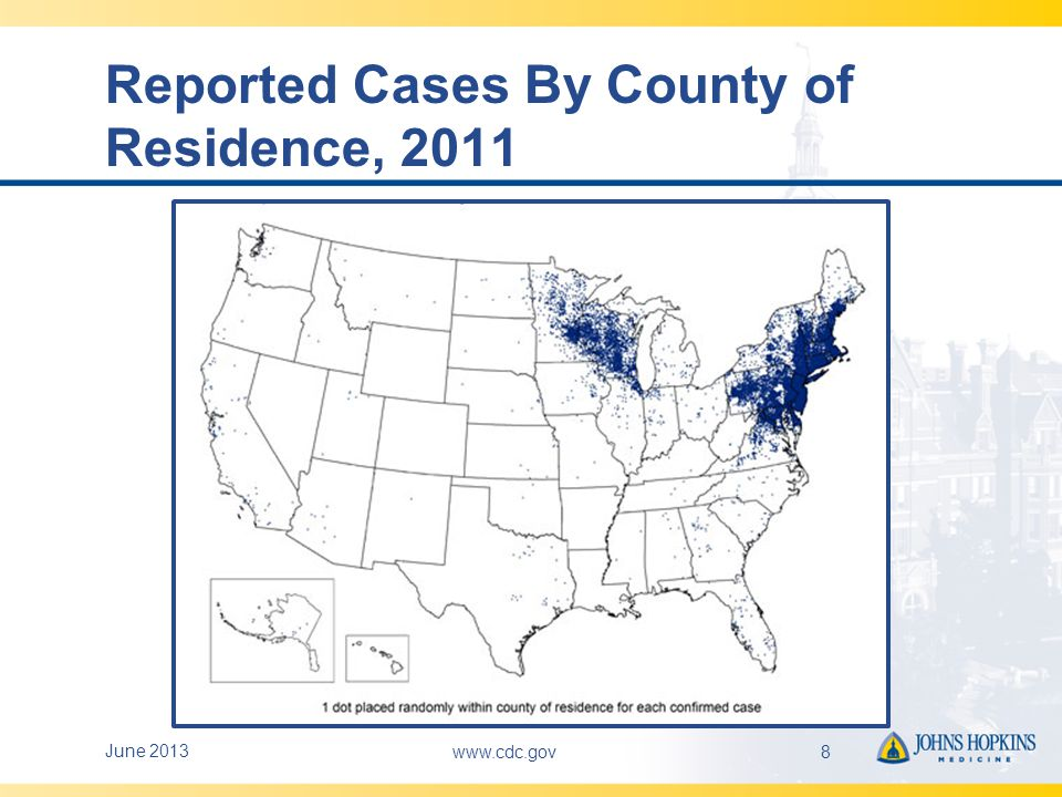 Reported Cases By County of Residence, 2011