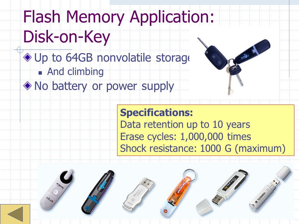 Flash Memory Application: Disk-on-Key