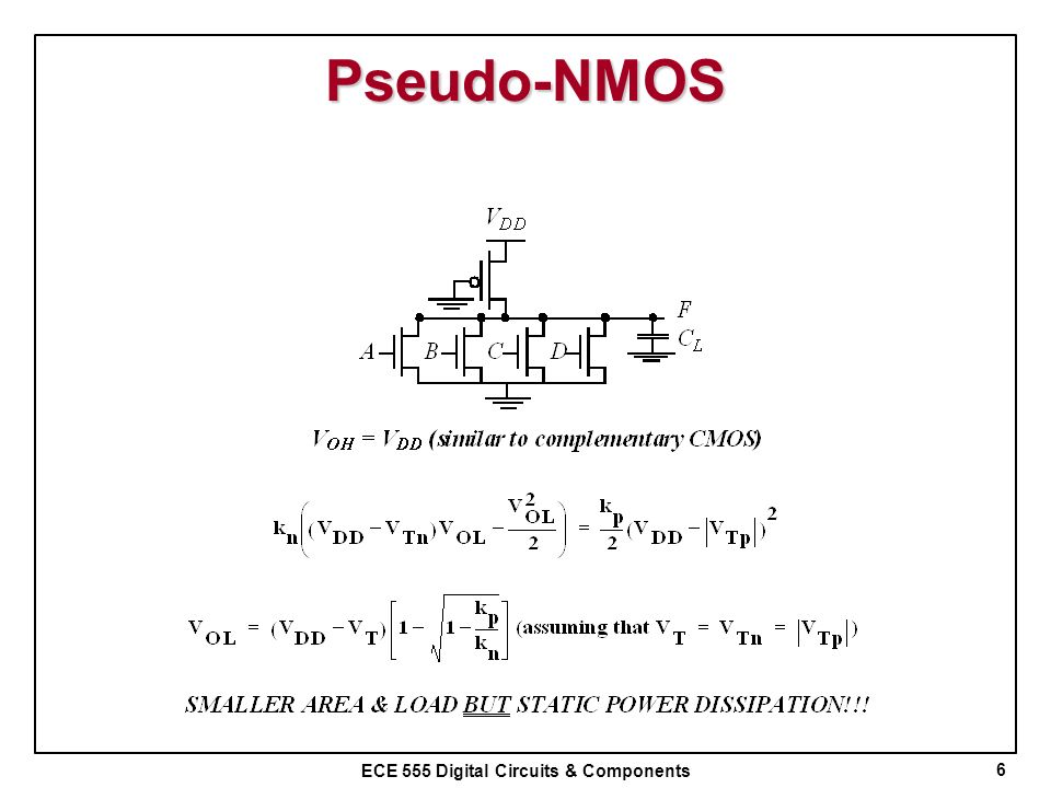 Pseudo-NMOS