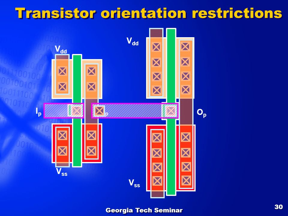 Transistor orientation restrictions