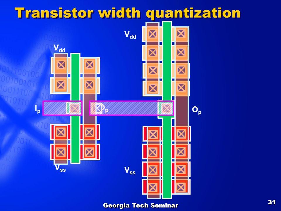Transistor width quantization
