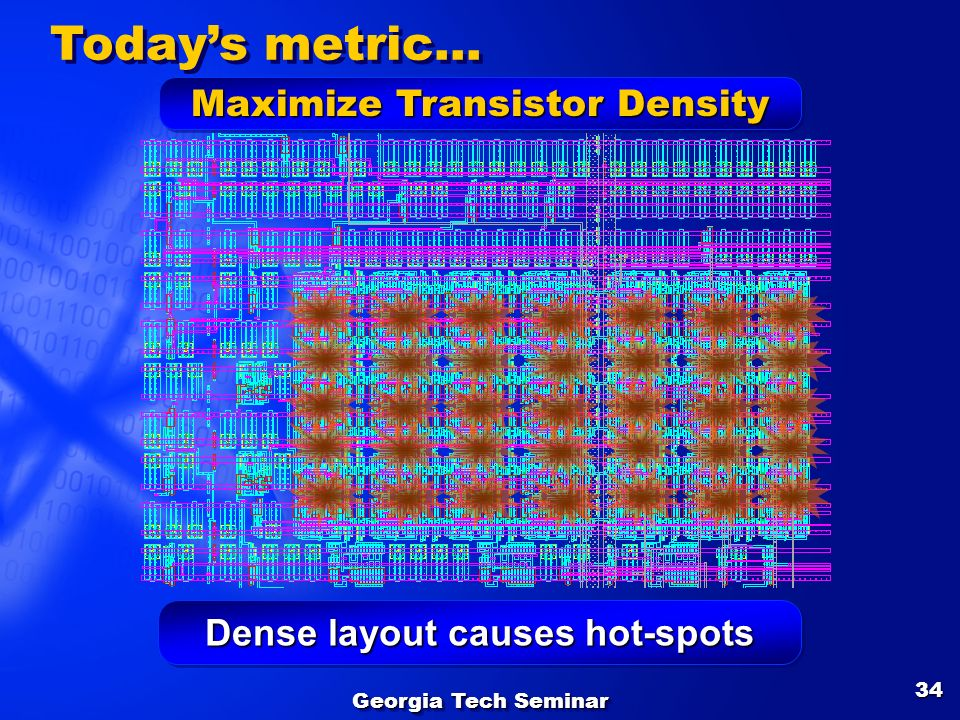 Dense layout causes hot-spots