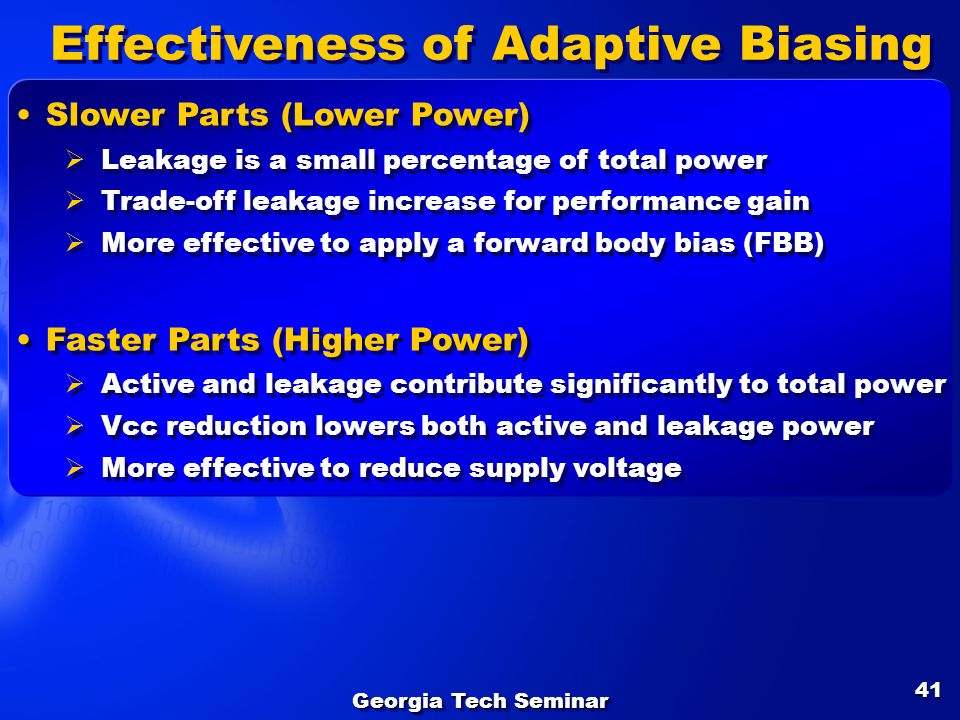 Effectiveness of Adaptive Biasing