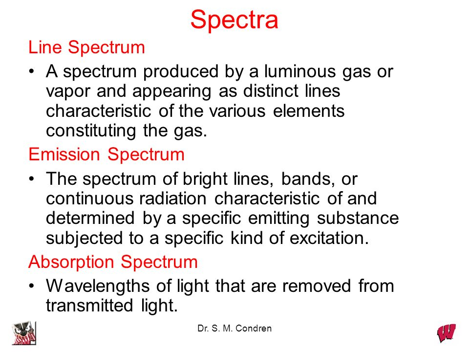 Spectra Line Spectrum.