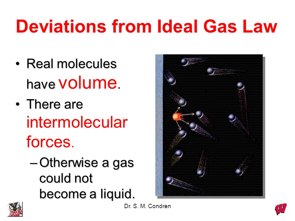 Deviations from Ideal Gas Law