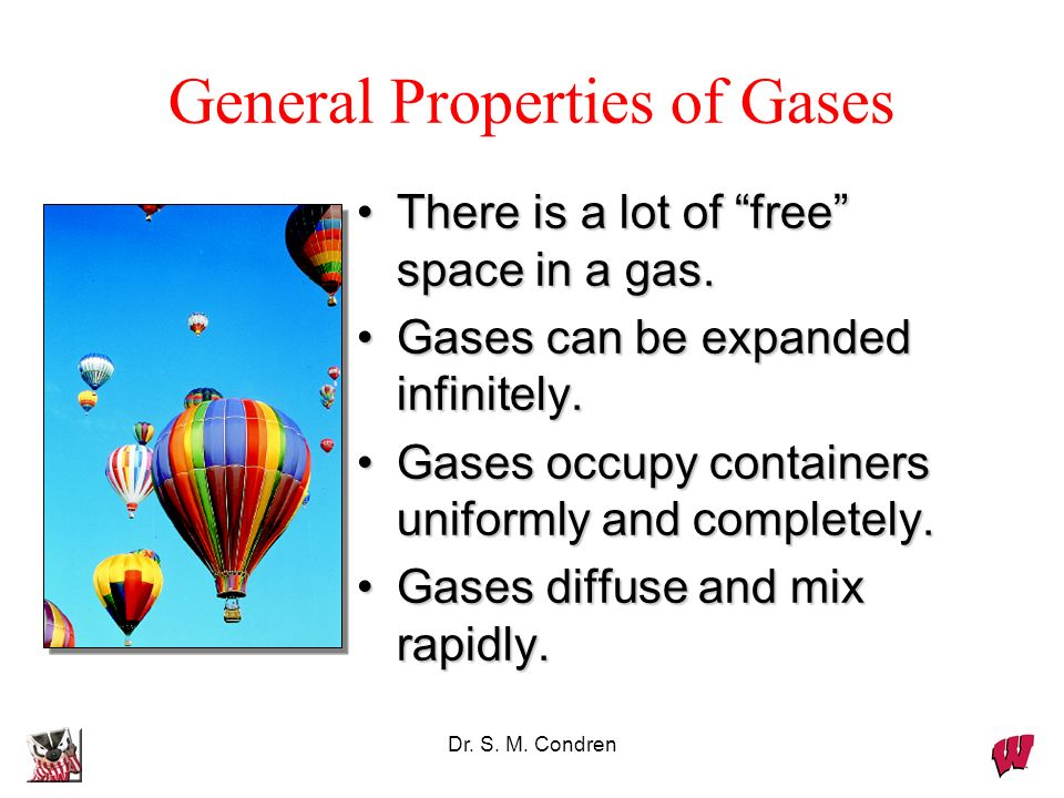 General Properties of Gases