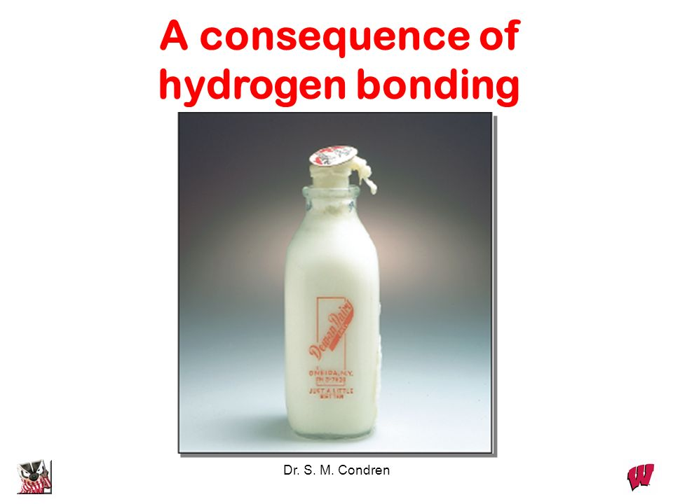 A consequence of hydrogen bonding